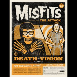 Misfits Cleveland 2013 screen printed poster-0