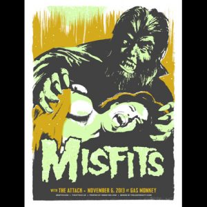 Misfits Dallas, TX 2013 screen printed poster-0