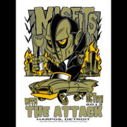Misfits Detroit 2013 screen printed poster-0