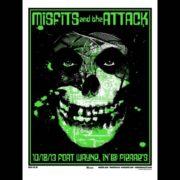 Misfits Ft. Wayne, IN 2013 screen printed poster-0