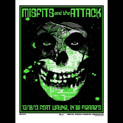Misfits Ft. Wayne, IN 2013 screen printed poster-0