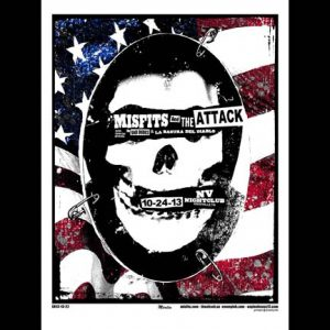 Misfits Knoxville, TN 2013 screen printed poster-0