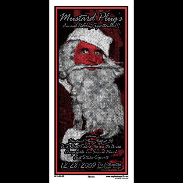 Mustard Plug 2009 Holiday screen printed poster-0