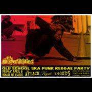 "The Supervillains ""Old School Ska Punk Reggae Party"" Orlando, Fl screen printed poster-0"