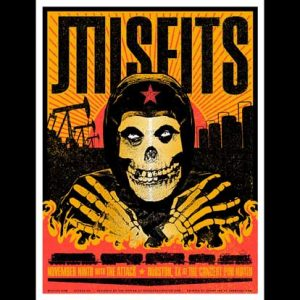 Misfits Houston 2013 screen printed poster-0