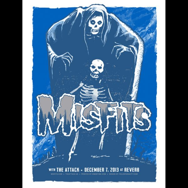 Misfits Reading, PA 2013 screen printed poster-0