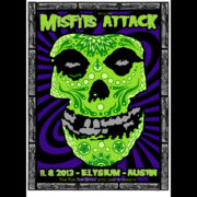 Misfits Austin, TX 2013 screen printed poster-0