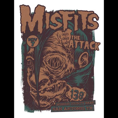 Misfits San Antonio, TX 2013 screen printed poster-0