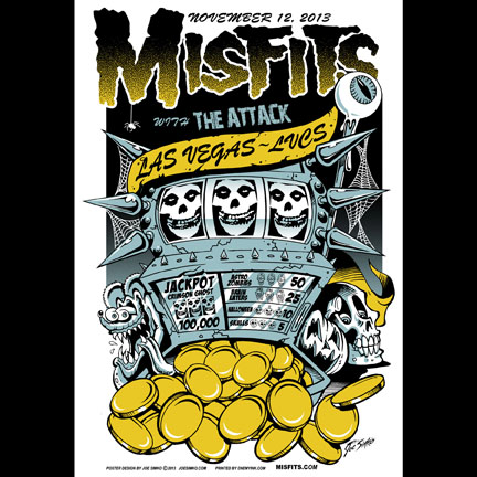 Misfits Las Vegas 2013 screen printed poster-0
