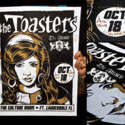 AUTOGRAPHED/FULL SET Toasters Screen Printed Tour Posters (Fall 2014) with The Attack-281