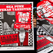 AUTOGRAPHED/FULL SET Toasters Screen Printed Tour Posters (Fall 2014) with The Attack-279