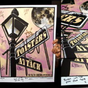 AUTOGRAPHED/FULL SET Toasters Screen Printed Tour Posters (Fall 2014) with The Attack-276