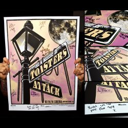 Toasters Screen Printed Poster New Orleans 10/14/14-284
