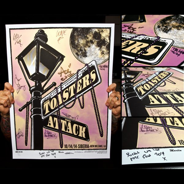 Toasters Screen Printed Poster New Orleans 10/14/14-0
