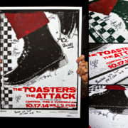 AUTOGRAPHED/FULL SET Toasters Screen Printed Tour Posters (Fall 2014) with The Attack-275