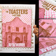 AUTOGRAPHED/FULL SET Toasters Screen Printed Tour Posters (Fall 2014) with The Attack-280