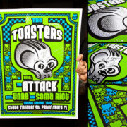AUTOGRAPHED/FULL SET Toasters Screen Printed Tour Posters (Fall 2014) with The Attack-278