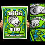 Toasters Screen Printed Poster ST. Petersburg, FL 10/19/14-0
