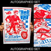 AUTOGRAPHED/FULL SET Toasters Screen Printed Tour Posters (Fall 2014) with The Attack-0