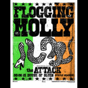 Flogging Molly Myrtle Beach, Fl 2015 screen printed poster-0