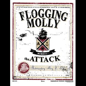 Flogging Molly St Petersburg, Fl 2015 screen printed poster-0